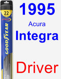 Driver Wiper Blade for 1995 Acura Integra - Hybrid