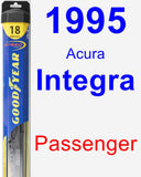 Passenger Wiper Blade for 1995 Acura Integra - Hybrid