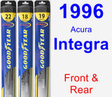 Front & Rear Wiper Blade Pack for 1996 Acura Integra - Hybrid