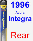Rear Wiper Blade for 1996 Acura Integra - Hybrid