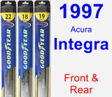 Front & Rear Wiper Blade Pack for 1997 Acura Integra - Hybrid