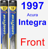 Front Wiper Blade Pack for 1997 Acura Integra - Hybrid