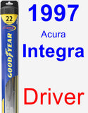 Driver Wiper Blade for 1997 Acura Integra - Hybrid