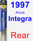 Rear Wiper Blade for 1997 Acura Integra - Hybrid
