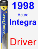 Driver Wiper Blade for 1998 Acura Integra - Hybrid