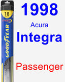 Passenger Wiper Blade for 1998 Acura Integra - Hybrid