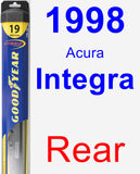 Rear Wiper Blade for 1998 Acura Integra - Hybrid