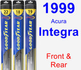 Front & Rear Wiper Blade Pack for 1999 Acura Integra - Hybrid