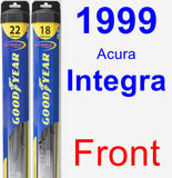 Front Wiper Blade Pack for 1999 Acura Integra - Hybrid