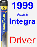 Driver Wiper Blade for 1999 Acura Integra - Hybrid