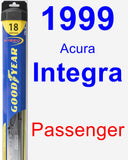 Passenger Wiper Blade for 1999 Acura Integra - Hybrid