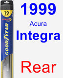 Rear Wiper Blade for 1999 Acura Integra - Hybrid