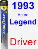 Driver Wiper Blade for 1993 Acura Legend - Hybrid