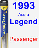Passenger Wiper Blade for 1993 Acura Legend - Hybrid