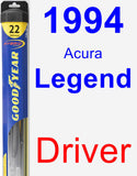 Driver Wiper Blade for 1994 Acura Legend - Hybrid