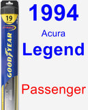 Passenger Wiper Blade for 1994 Acura Legend - Hybrid