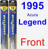 Front Wiper Blade Pack for 1995 Acura Legend - Hybrid