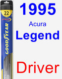 Driver Wiper Blade for 1995 Acura Legend - Hybrid