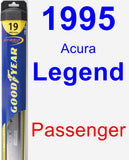 Passenger Wiper Blade for 1995 Acura Legend - Hybrid