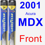 Front Wiper Blade Pack for 2001 Acura MDX - Hybrid