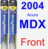 Front Wiper Blade Pack for 2004 Acura MDX - Hybrid