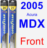 Front Wiper Blade Pack for 2005 Acura MDX - Hybrid