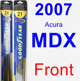 Front Wiper Blade Pack for 2007 Acura MDX - Hybrid