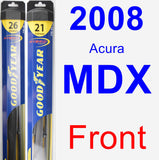 Front Wiper Blade Pack for 2008 Acura MDX - Hybrid