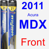 Front Wiper Blade Pack for 2011 Acura MDX - Hybrid