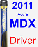 Driver Wiper Blade for 2011 Acura MDX - Hybrid
