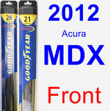 Front Wiper Blade Pack for 2012 Acura MDX - Hybrid