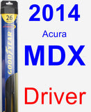 Driver Wiper Blade for 2014 Acura MDX - Hybrid