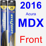 Front Wiper Blade Pack for 2016 Acura MDX - Hybrid