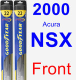 Front Wiper Blade Pack for 2000 Acura NSX - Hybrid