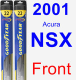 Front Wiper Blade Pack for 2001 Acura NSX - Hybrid