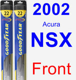Front Wiper Blade Pack for 2002 Acura NSX - Hybrid
