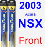 Front Wiper Blade Pack for 2003 Acura NSX - Hybrid