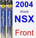 Front Wiper Blade Pack for 2004 Acura NSX - Hybrid