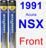 Front Wiper Blade Pack for 1991 Acura NSX - Hybrid
