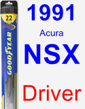 Driver Wiper Blade for 1991 Acura NSX - Hybrid
