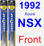 Front Wiper Blade Pack for 1992 Acura NSX - Hybrid