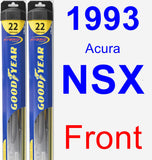 Front Wiper Blade Pack for 1993 Acura NSX - Hybrid