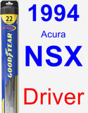 Driver Wiper Blade for 1994 Acura NSX - Hybrid