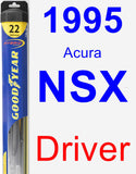 Driver Wiper Blade for 1995 Acura NSX - Hybrid