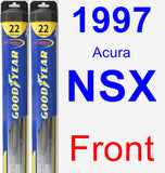 Front Wiper Blade Pack for 1997 Acura NSX - Hybrid