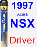 Driver Wiper Blade for 1997 Acura NSX - Hybrid