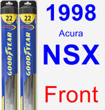 Front Wiper Blade Pack for 1998 Acura NSX - Hybrid