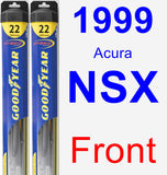 Front Wiper Blade Pack for 1999 Acura NSX - Hybrid