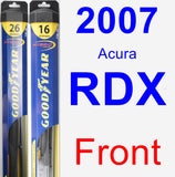 Front Wiper Blade Pack for 2007 Acura RDX - Hybrid