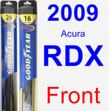 Front Wiper Blade Pack for 2009 Acura RDX - Hybrid